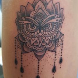 dotwork owl